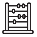 Abacus vector black and white icon line drawing
