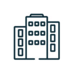 Office building icon illustration