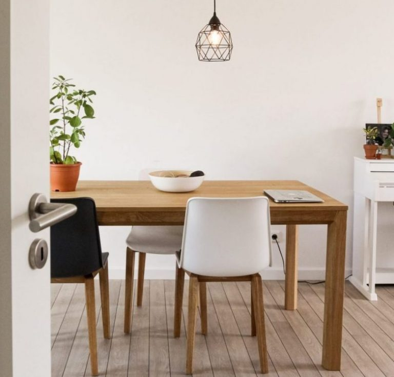 Clean and tidy dining room free from clutter